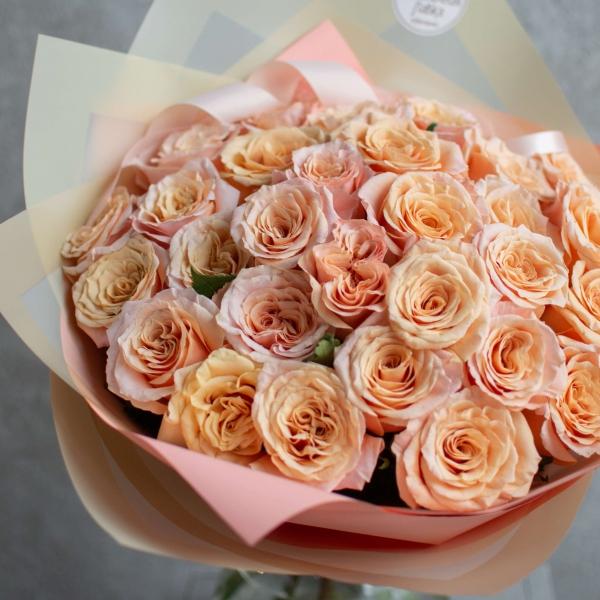 Монобукет из роз Шиммер